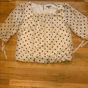 Roz & Ali polka dot blouse
